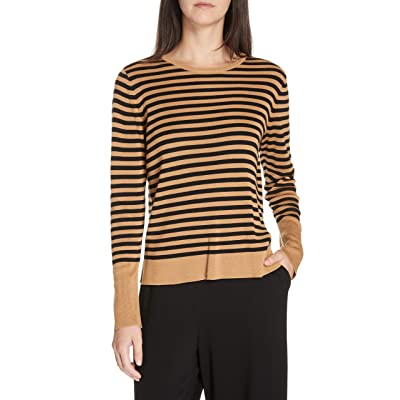 Eileen Fisher Womens Tencel Blend Striped Sweater at Women's Clothing store