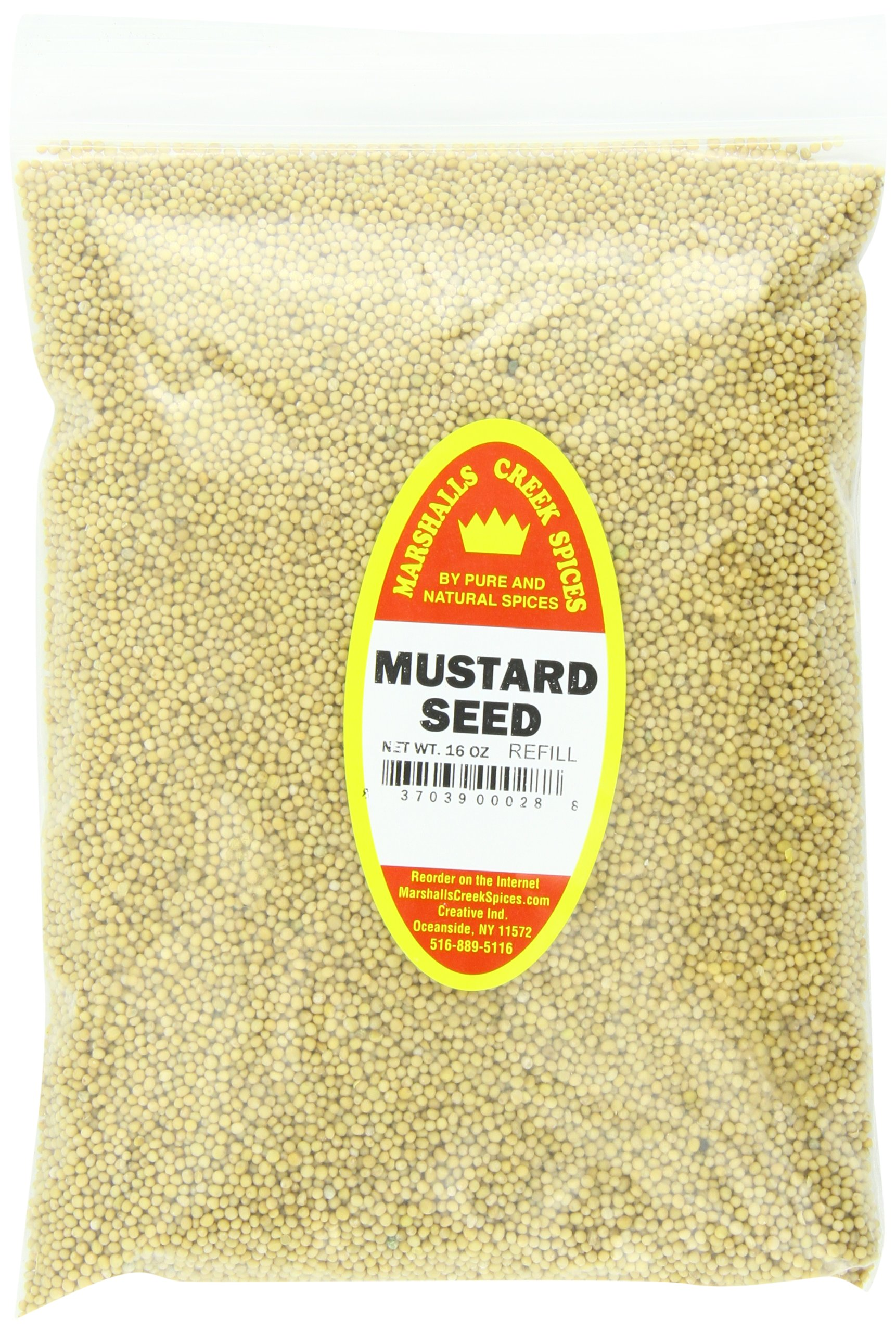 Marshalls Creek Spices Mustard Seed Refill, 16 Ounce by Marshall's Creek Spices (Image #1)