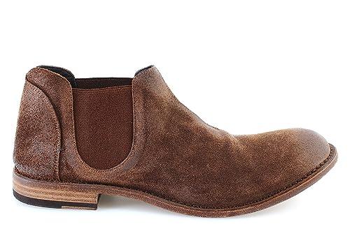 Zapatos Hombres Botines PANTANETTI 11512A Rex Avela Wilson 890 Cuoio Gamuza New