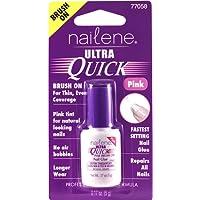Nailene Ultra Quick Brush On Glue Pink 5g