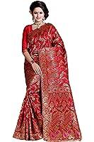 Vatsla Enterprise Women's Silk Cotton Saree With Blouse Piece (Apexjallred_Red)