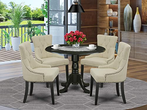 East West Furniture Nook Kitchen Table Set 5 Pc