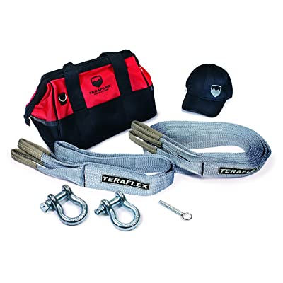 TeraFlex 5028995 Recovery Kit (with Tool Bag, Straps, D-Rings, Air Deflator, Hat): Automotive
