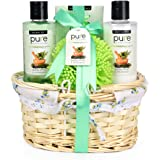 Gift Set for Men- Gift Baskets for Him! Eucalyptus & Spearmint Essential Oils Wicker Gift Basket. #1 Birthday Gifts for Men! Get Well Gift, Sympathy Gift Baskets. Gifts for Boy friend.