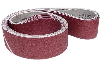 2 x P40,P60,P80,P120 et P180 LS 307 X Dimensions : selon le choix Klingspor LS 307 X Lot de 10 bandes abrasives pour ponceuse