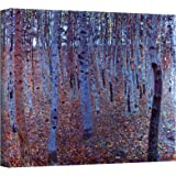 Art Wall Beeche Forest Gallery Wrapped Canvas by Gustav Klimt, 36 by 36-Inch