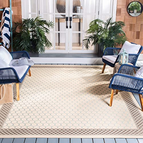 Safavieh Courtyard Collection CY7933-79A18 Beige and Dark Beige Indoor/ Outdoor Area Rug 5'3″ x 7'7″