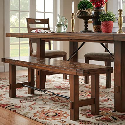 Amazing Amazon Com Modern Dining Bench Crafted Of Pine Wood Onthecornerstone Fun Painted Chair Ideas Images Onthecornerstoneorg