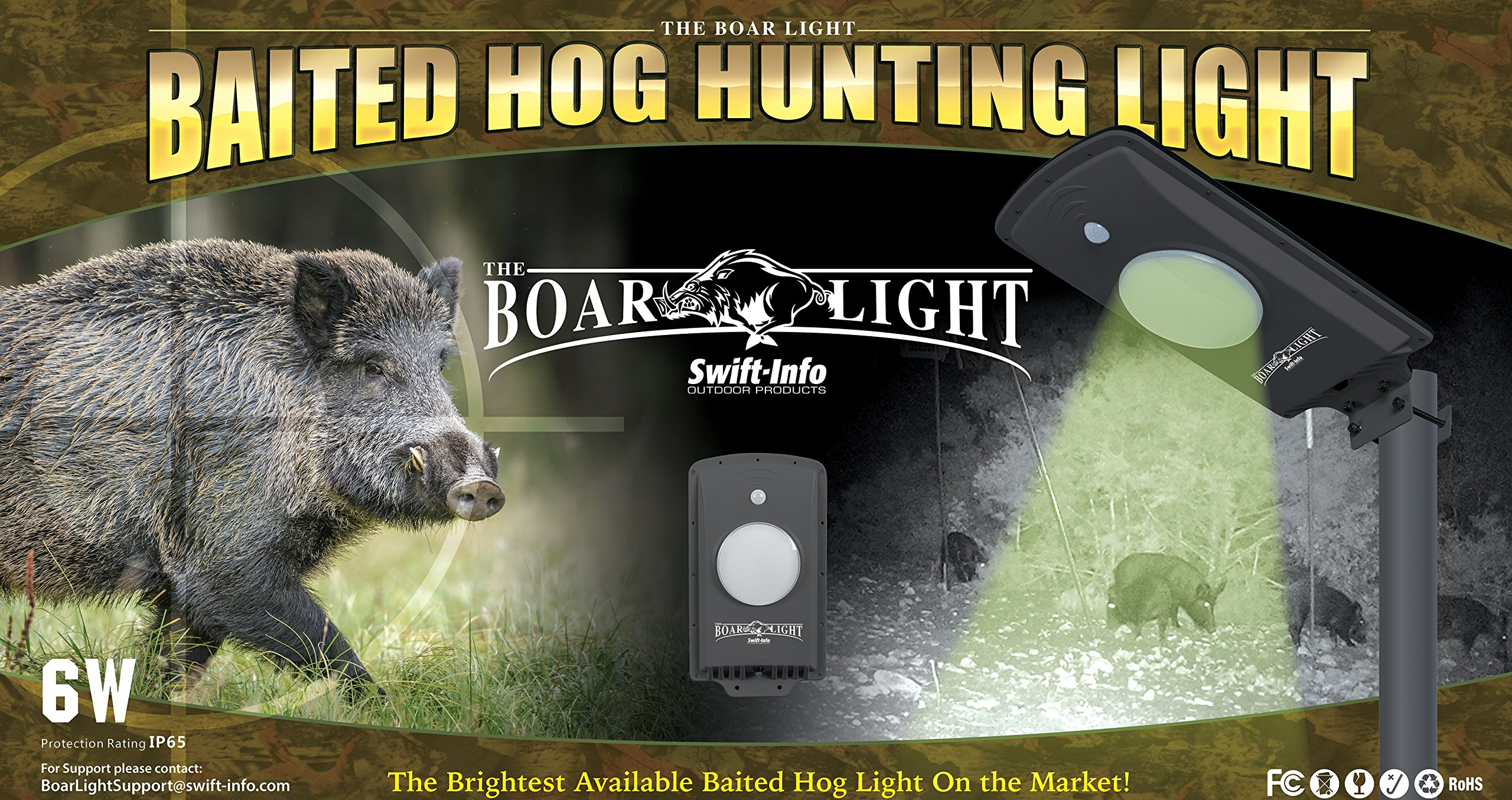 The Boar Light - Baited Hog Hunting Light by Swift-Info Outdoor Products