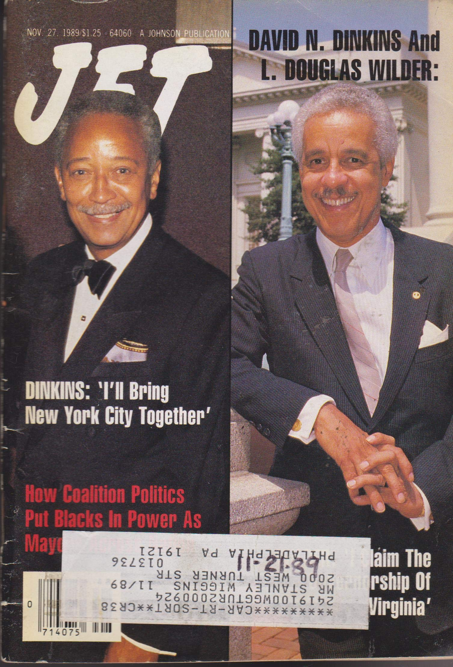 jet magazine november 27 1989 david dinkins douglas wilder various amazon com books jet magazine november 27 1989 david