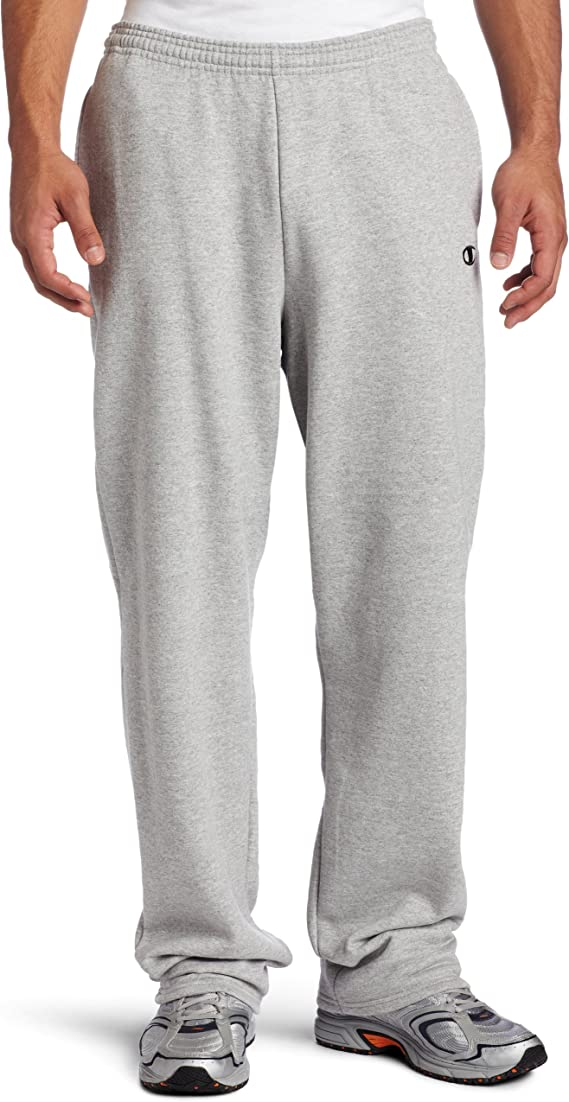 Champion NCAA Mens Eco Powerblend Open Bottom Pant