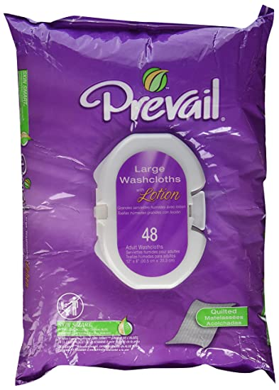 Prevail Premium Quilted Washcloths, 48-Count
