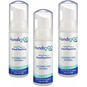 Hands2GO Alcohol-free Natural Hand Sanitizer (3 Foaming 1.7oz bottles)