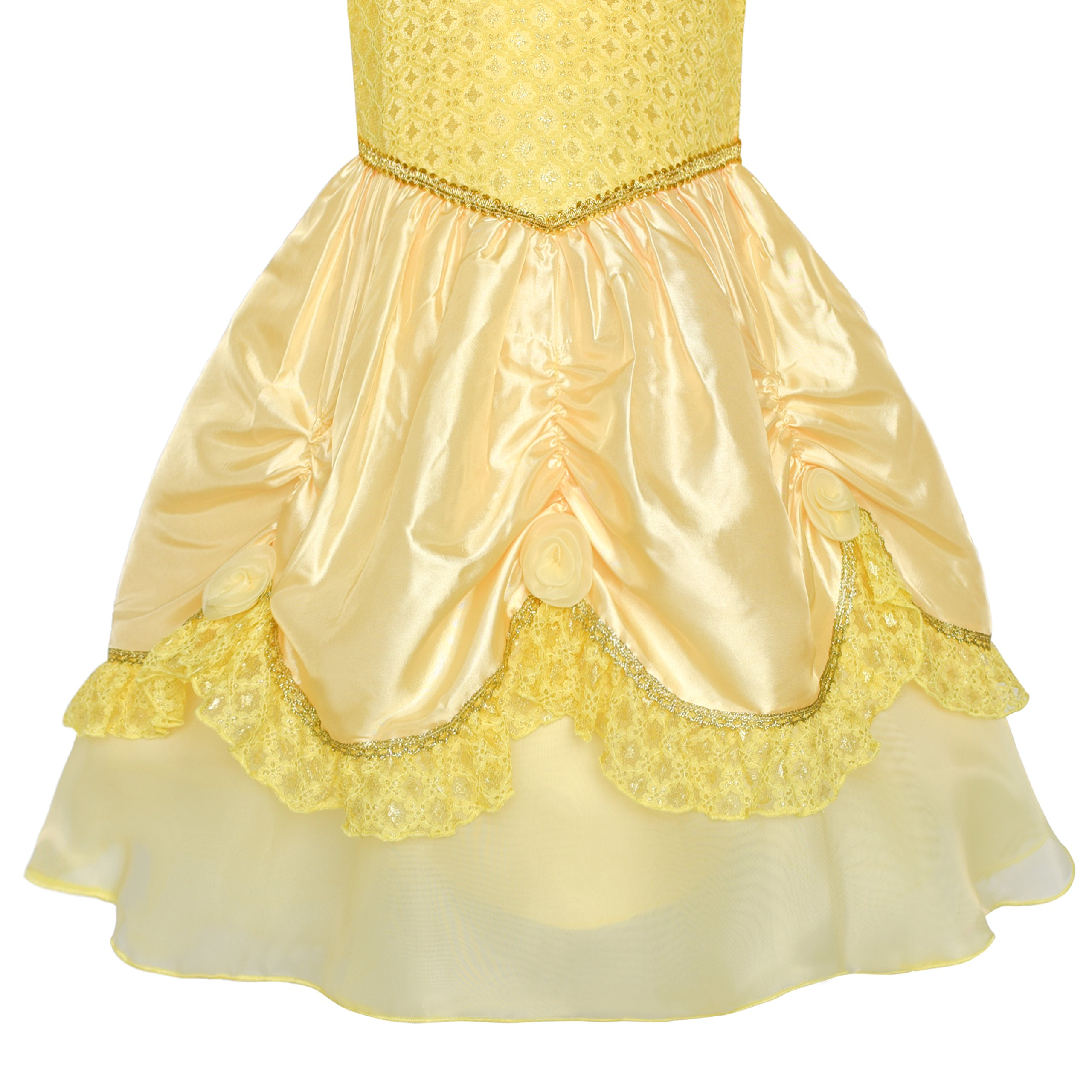 Girls Dress Yellow Princess Belle Costume Birthday Party Size 6 by Sunny Fashion (Image #4)