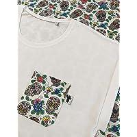 Camiseta calaveras mexicanas old school para mujer