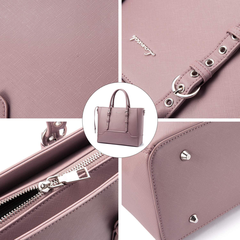 Borsa Donna Set Tracolla Spalla Borse a Mano Grande Progettista Medio Grande Moda Elegante 3 Pezzi Tote Crossbody Clutch A - rosa albicocca