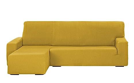 Martina Home Tunez Funda Sofá para Chaise Longue, Diseño Moderno, Tela, Oro, Brazo izquierdo corto
