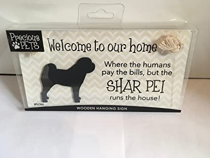 Prezioso cartello da appendere, tema: animali domestici, Shar Pei ...