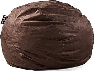 Big Joe Lenox Fuf Foam Filled Bean Bag, King, Cocoa