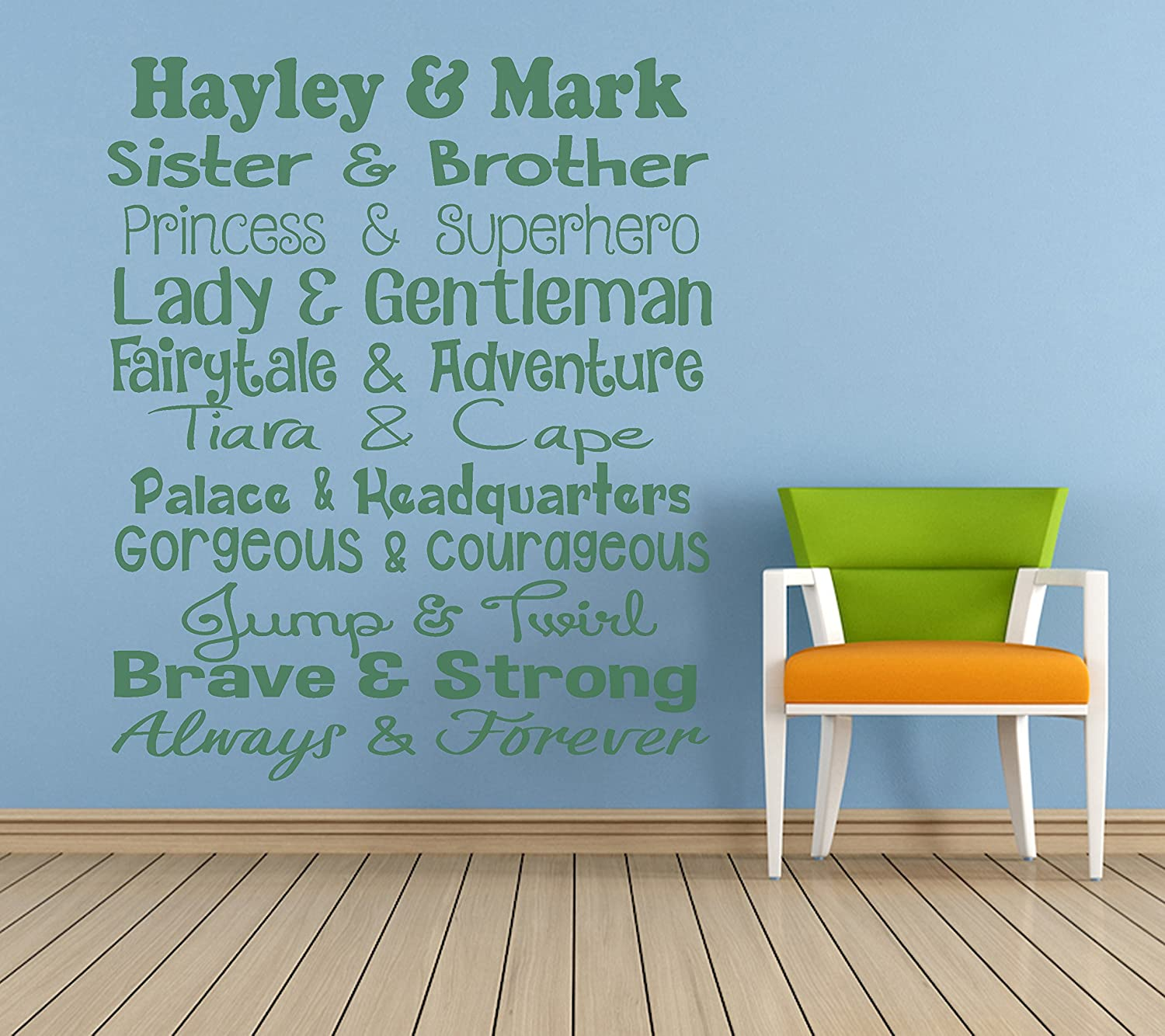 Amazon.com: Personalized \'Brother & Sister\' Quote, Vinyl ...