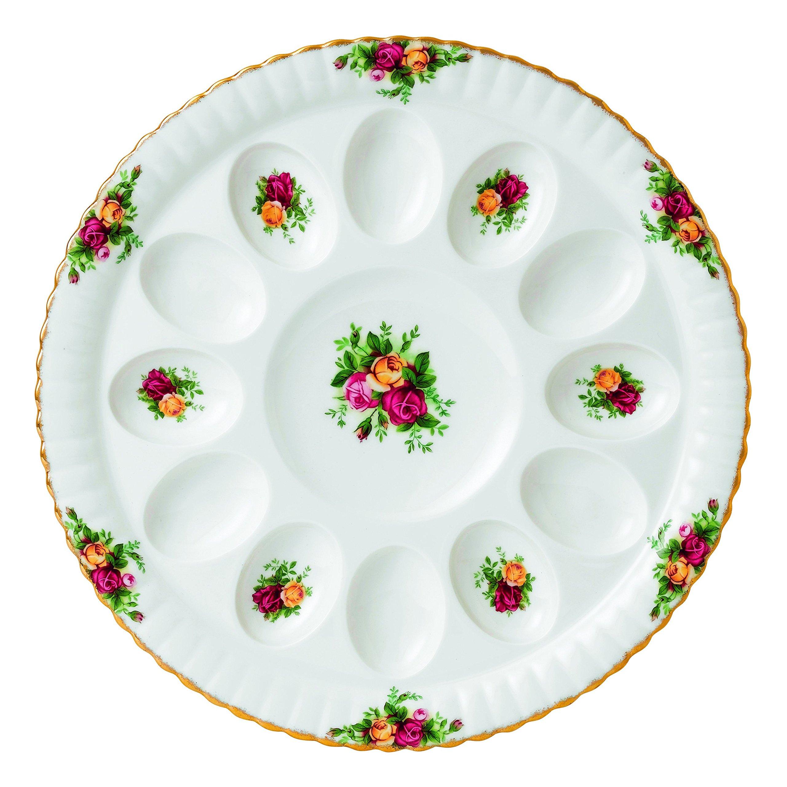 Royal Albert Old Country Roses Deviled Egg Dish, 11.5''