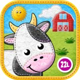 Toddler Animals: My First Felt Farm: Educational Games (Baby, Preschool, Kindergarten) by Abby Monkey® Kids Learning Clubhouse