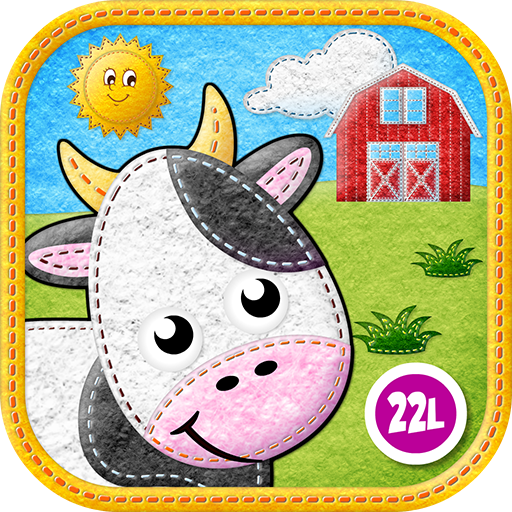 Toddler Animals: My First Felt Farm: Educational Games (Baby, Preschool, Kindergarten) by Abby Monkey Kids Learning Clubhouse