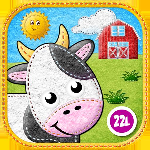 Toddler Animals: My First Felt Farm: Educational Games (Baby, Preschool, Kindergarten) by Abby Monkey® Kids Learning Clubhouse (Educational Felt)