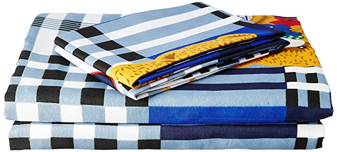 Bombay Dyeing Felix 136 TC Microfibre Double Bedsheet with 2 Pillow Covers - Blue