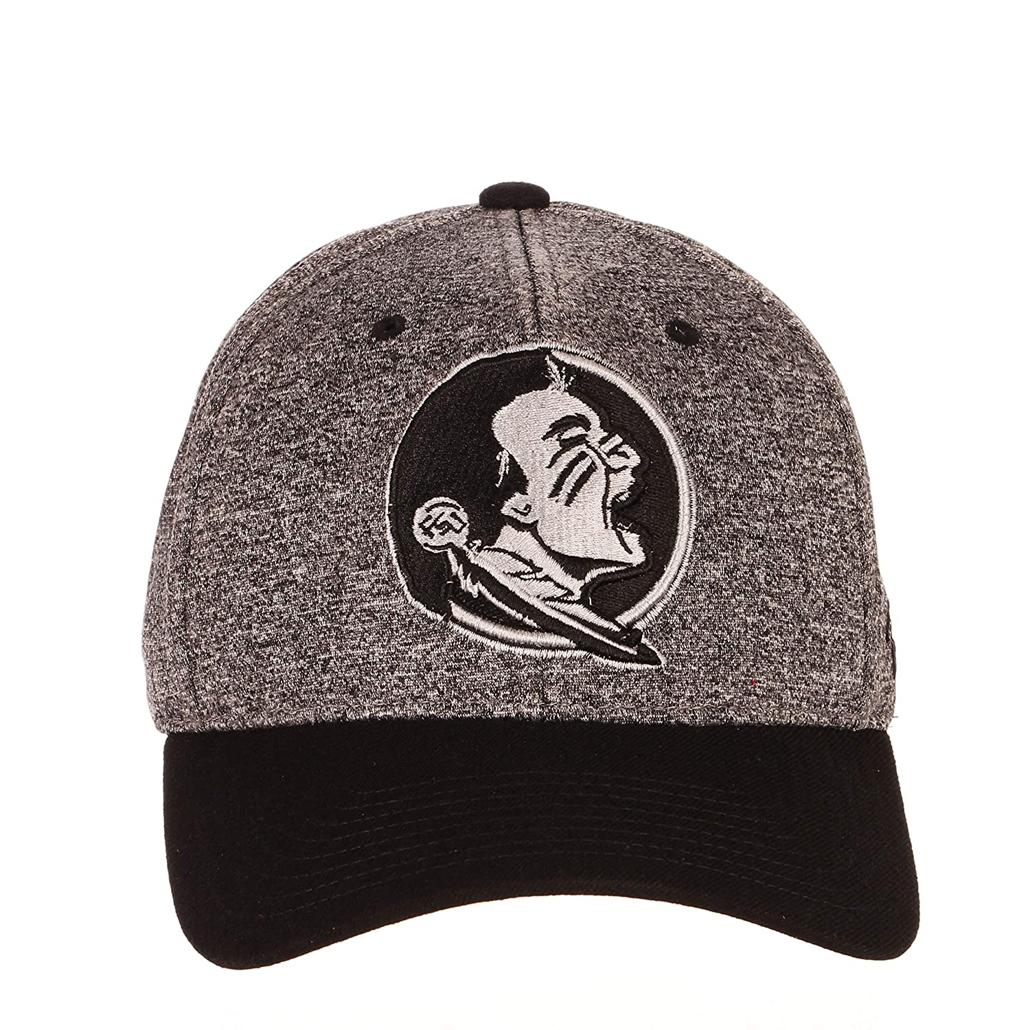 NCAA Zephyr Florida State Seminoles Mens Interference Z-Fit Hat Small Charcoal//Black