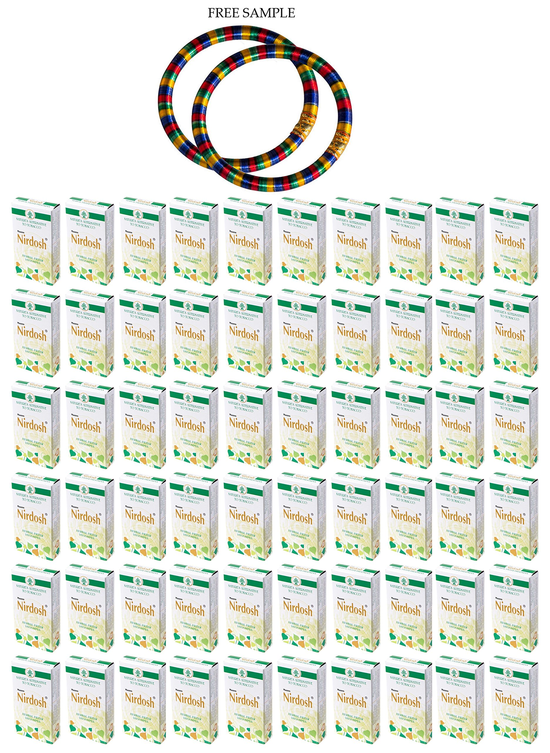 Nirdosh Herbal Cigarettes - Pack of 60 - ''Free Expedited Shipping via DHL Express'' - Delivery in 3-7 days - with Free Product Sample