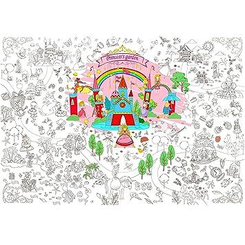 Jar Melo Super Painter Giant Coloring Poster Princess Garden