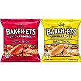 Baken-Ets Pork Skins, Chicharrones, Variety Pack 0.625oz Bags (24 Pack) 24ct Variety Pack 15 Ounce