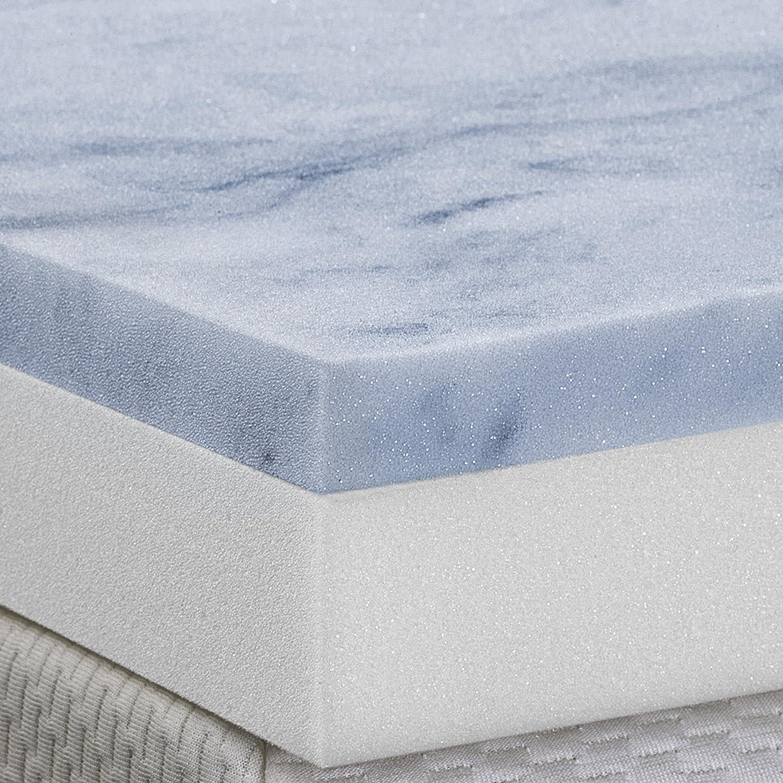 amazon com serenia sleep 3 inch two layer topper gel memory foam