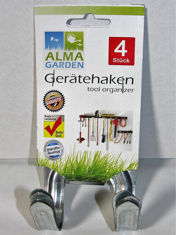 Juego de 4 dispositivo Soporte Herramientas Soporte dispositivo Ganchos de acero universal plana ALMA Garden