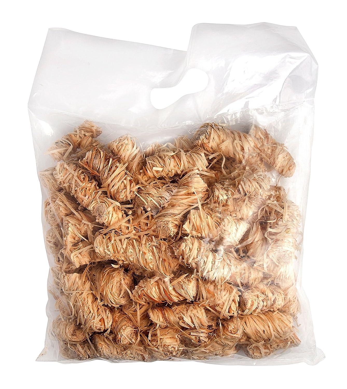 Bio di accendisigari in lana di legno e cera im 2 kg sacchetto (contenuto Pro circa 125 pezzi) Allgrill
