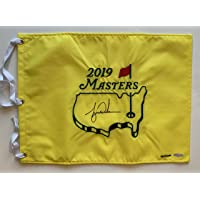 $1299 » Tiger Woods Autographed 2019 Masters Pin Flag. Signed. UDA COA