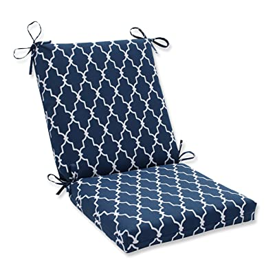 "Pillow Perfect Outdoor/Indoor Garden Gate Navy Square Corner Chair Cushion, 36.5"" x 18"": Home & Kitchen"
