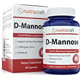 #1 D-Mannose Supplement – Combat Urinary Tract Infections & Support Bladder Health – 1500mg Per Serve - 100% Pure With No Preservatives or Gluten – Made In The USA – 90 Capsules