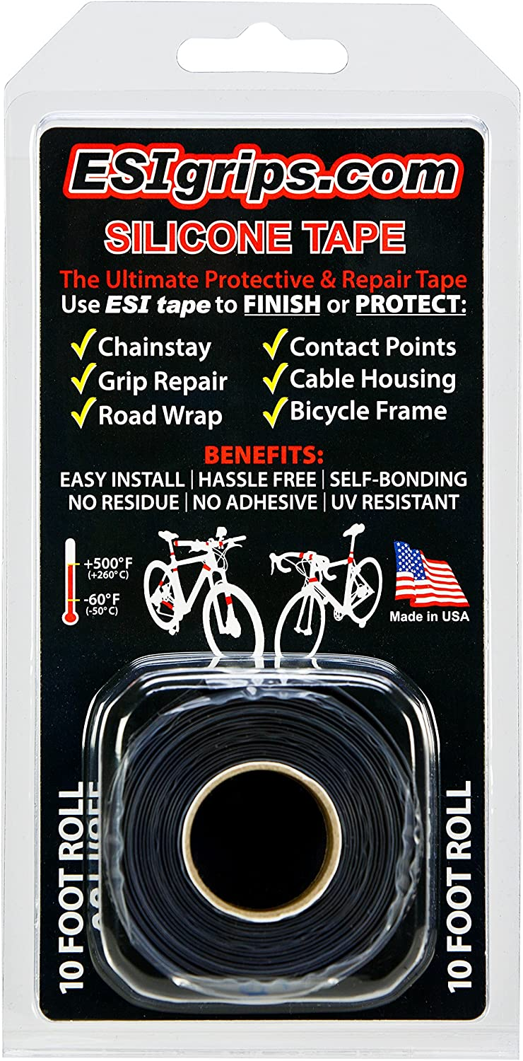 ESI SILICONE 10/' FOOT ROLL BICYCLE FRAME PROTECTOR WHITE TAPE