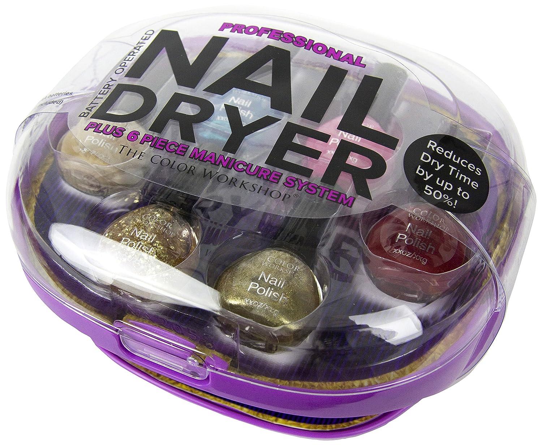 The Color Workshop Professional Nail Dryer/Polish Set, Purple ...