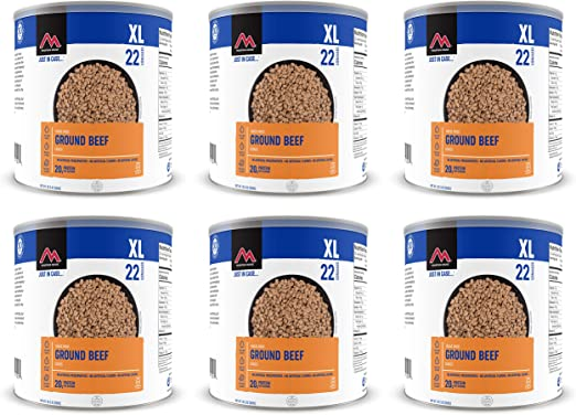 Freeze Dried survival food pack COOKED MINCED BEEF TIN