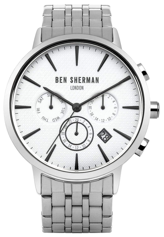 Ben Sherman Herren-Armbanduhr Portobello Professional Multi-Function Analog Quarz Edelstahl WB028SM