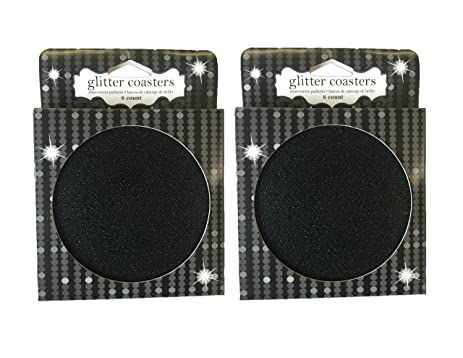 amazon com cardboard disposable drink coasters 16 per set black