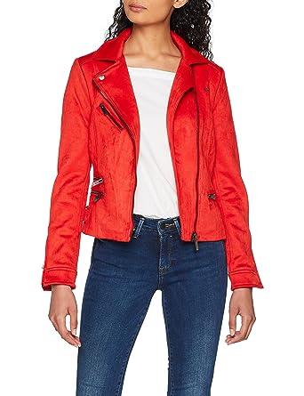 b16148070 ONLY Women's Onlluna Faux Suede Bonded Biker OTW Jacket: Amazon.co ...