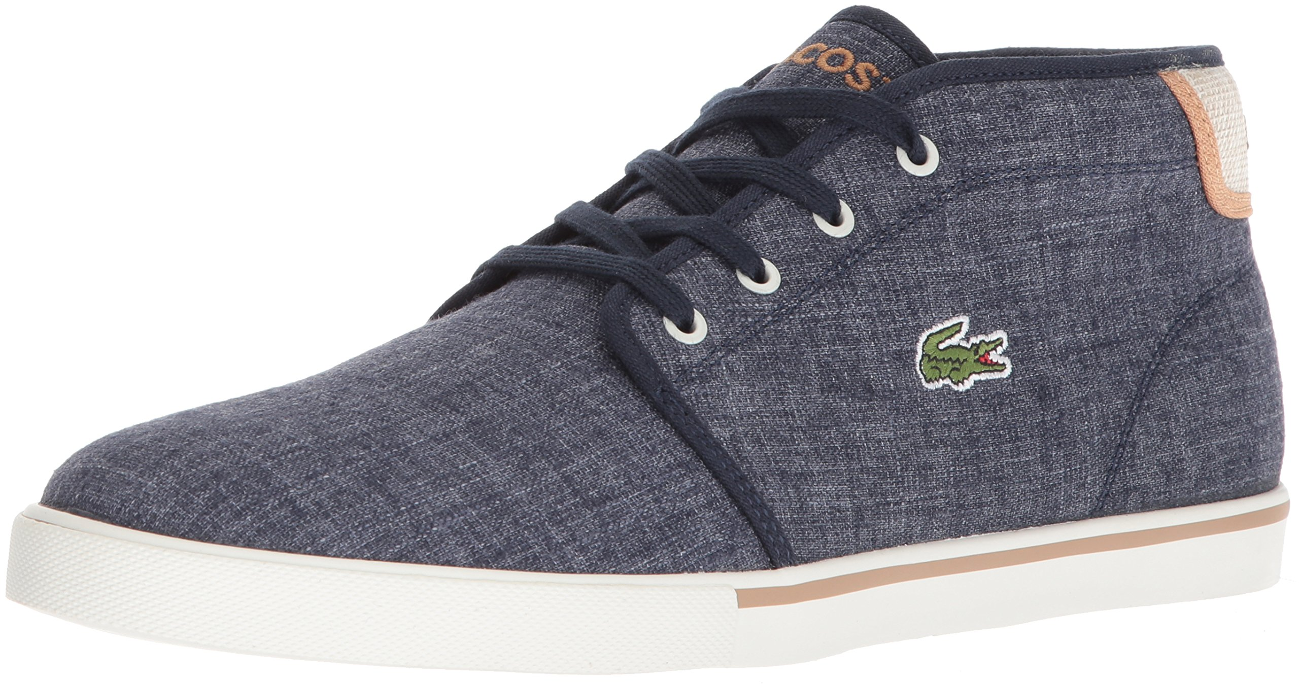 Lacoste Men's Ampthill Chukka Boot, Navy Canvas, 11 M US by Lacoste