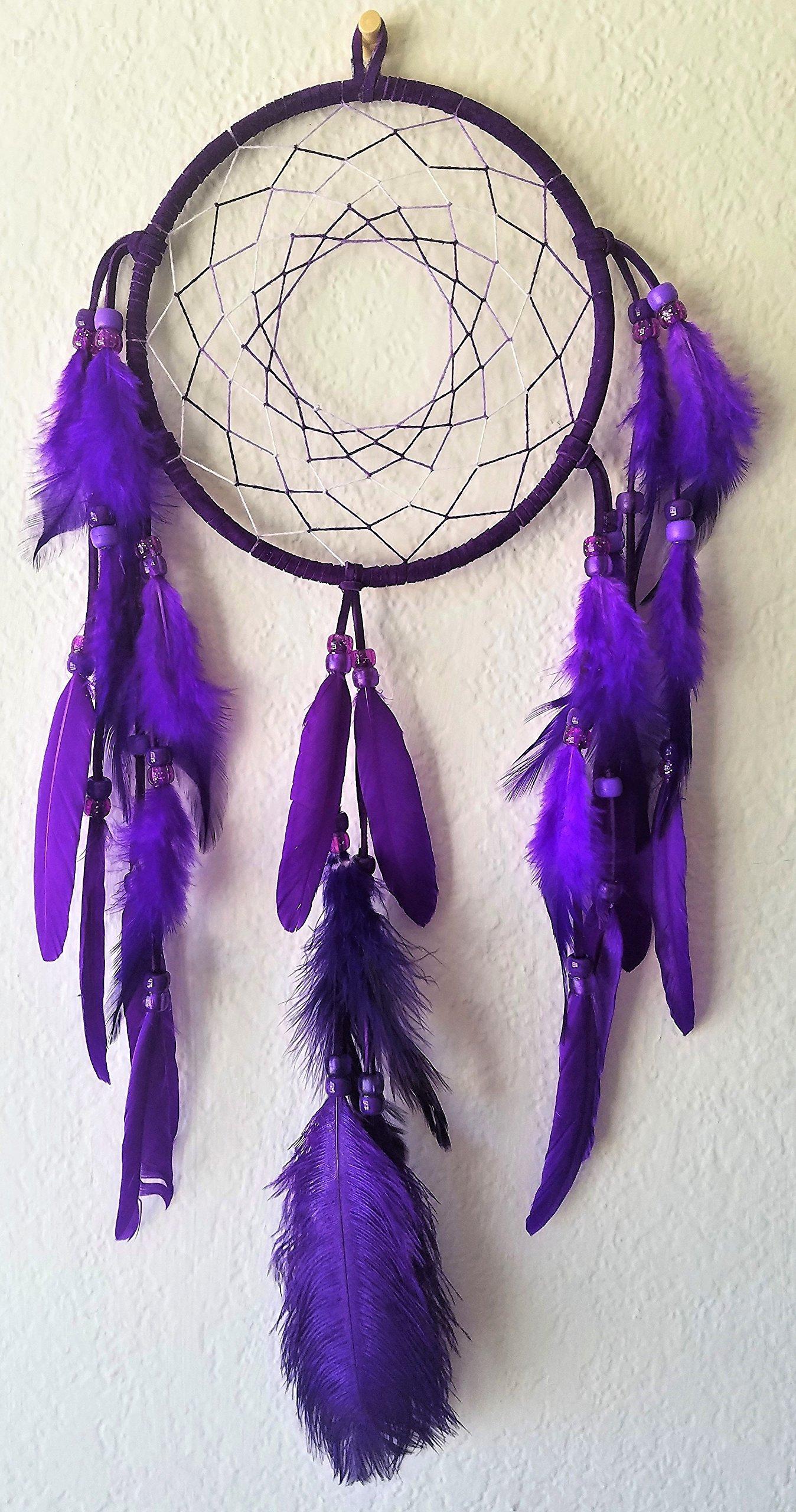Purple Dream Catcher Medium size purple Dreamcatcher handmade mobile/wall hanging