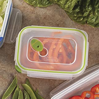 product image for Sterilite Ultra Seal 3.1-Cup Rectangle See-Through Lid and Bases with New Leaf Accents, 6-Pack