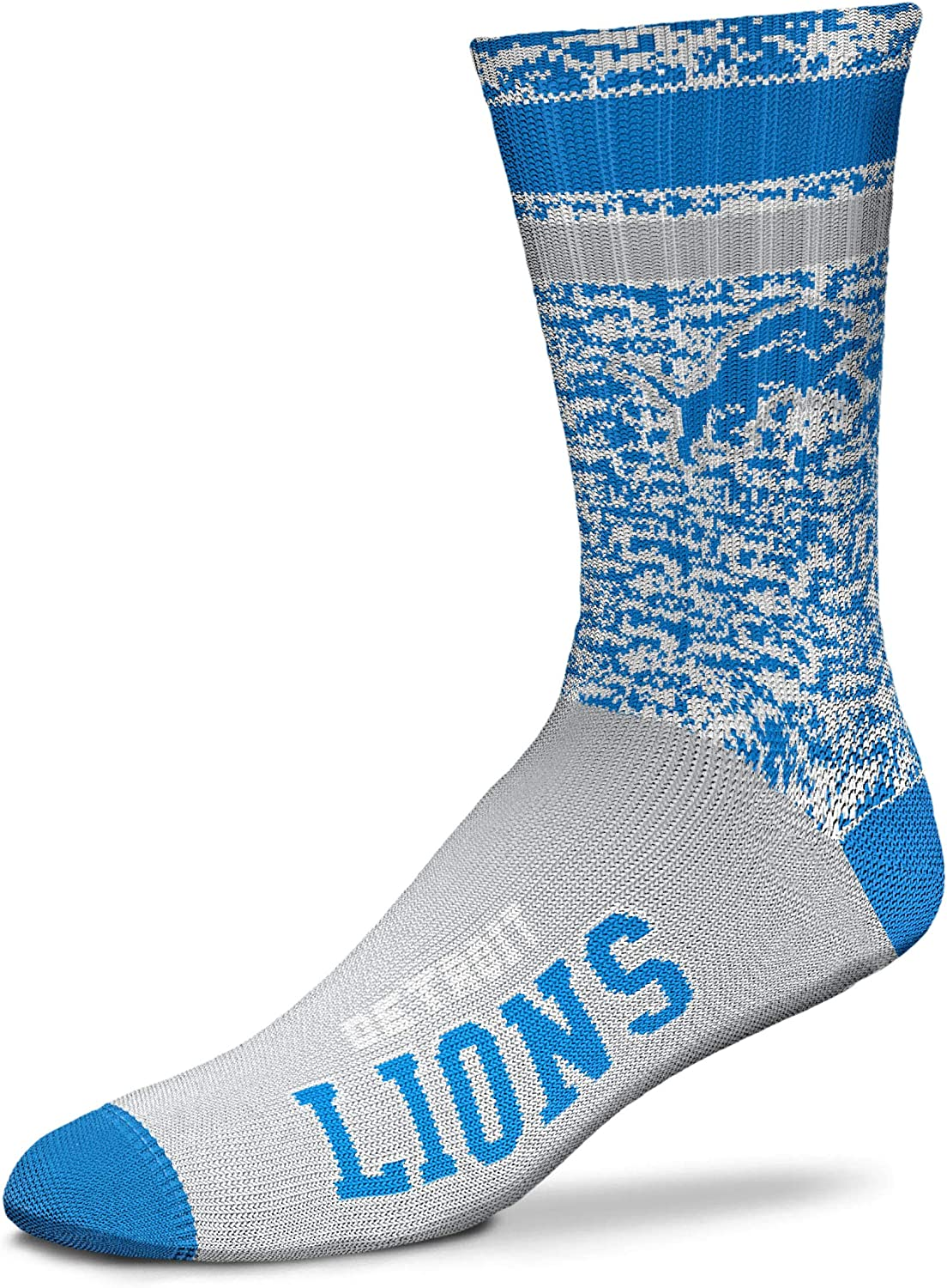 Medium /& Large Available For Bare Feet NFL Retro Deuce Crew Socks
