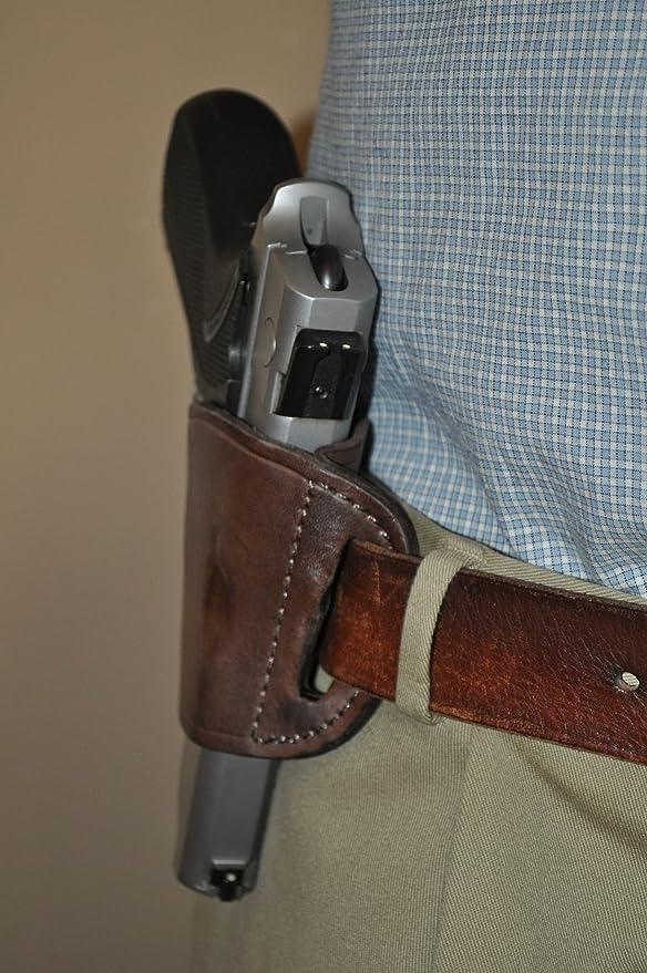 Brown Leather Belt Slide Gun Holster